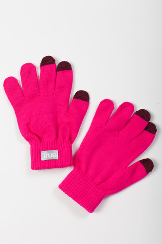 Перчатки TRUESPIN Touch Gloves FW19 Pink фото 5