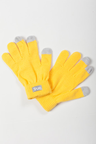 Перчатки TRUESPIN Touch Gloves FW19 Yellow фото 4