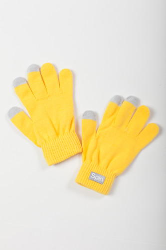 Перчатки TRUESPIN Touch Gloves FW19 Yellow фото 5