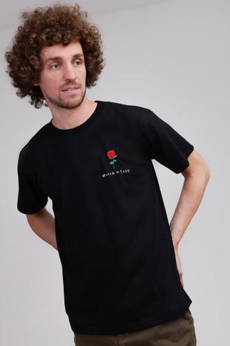 Футболка NICENONICE Молод и глуп с розой NF018 (Черный, L)