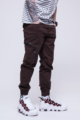 Брюки SKILLS Asymmetric Pants Brown фото