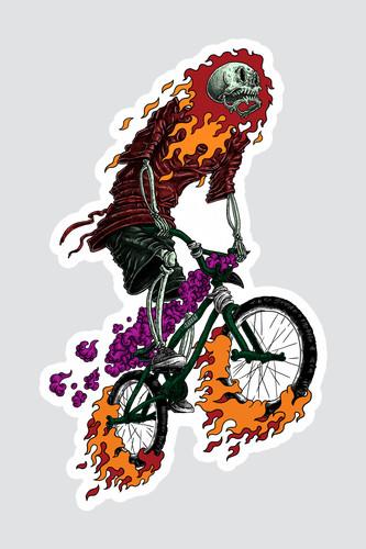 Наклейка SKILLS Bmx Rider (Разноцветный)