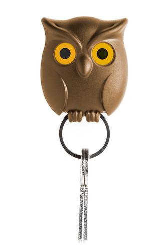 Держатель для ключей night owl коричневый (коричневый)