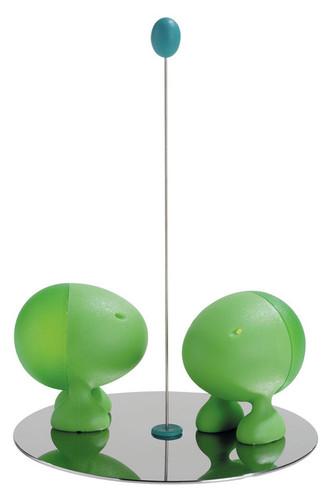 Солонка и перечница lilliput зеленые (зеленый)