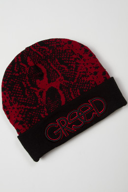 Шапка CAYLER & SONS Greed Beanie Black/Burgundy фото