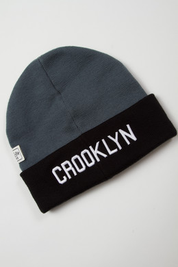 Шапка CAYLER & SONS Crooklyn Beanie Black/Grey фото