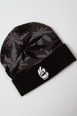Шапка CAYLER & SONS #faded Beanie Black/Grey фото 2