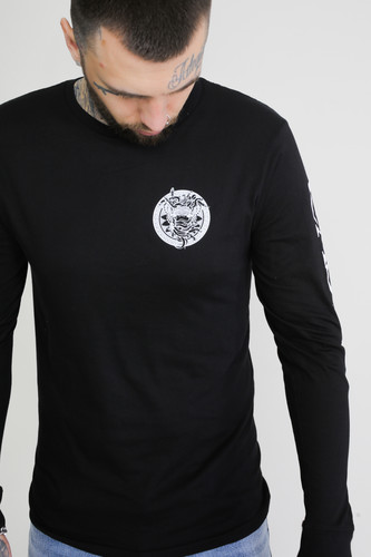 Лонгслив CROOKS & CASTLES Mighty Medusa L/S Tee (Black, XL) лонгслив crooks