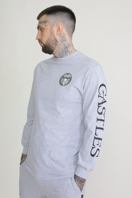 Лонгслив CROOKS & CASTLES Mighty Medusa L/S Tee Heather Grey