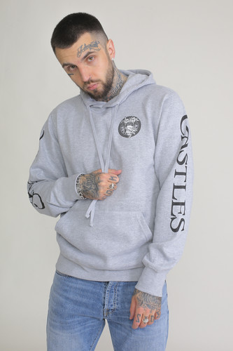 Фото - Толстовка CROOKS & CASTLES Mighty Medusa Pullover Hoodie (Heather Grey, 2XL) 3d wolf print hooded pullover hoodie