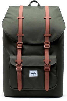Рюкзак HERSCHEL Little America Dark Olive/Saddle Brown фото