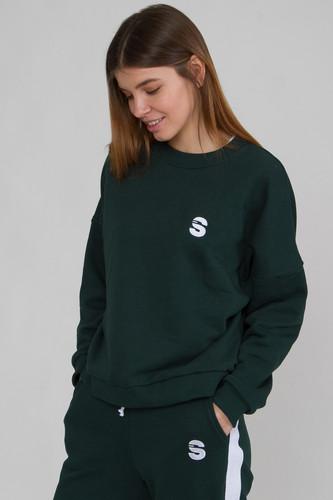 Свитшот SUKOVA 05 женский (Зеленый, M)
