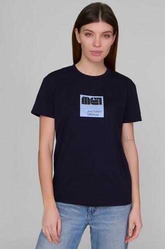 Футболка МЕЧ L19 TS-W-Instinct Square женская (Синий, XS)