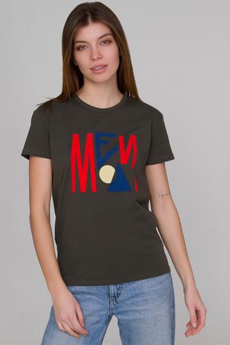 Футболка МЕЧ F18-W-TS-Angular женская (Темный Хаки, S) футболка меч s19 w ts moscow женская черный xs
