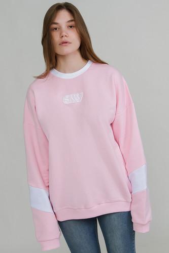 Свитшот SUKOVA (нашивка SKV) женский (Розовый, XL)