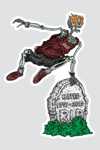 Наклейка SKILLS Bone Runner (Разноцветный)
