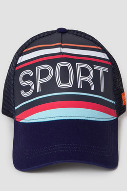 Бейсболка ЗАПОРОЖЕЦ Sport Stripes/Спорт Полоски Trucker Cap Navy фото 2