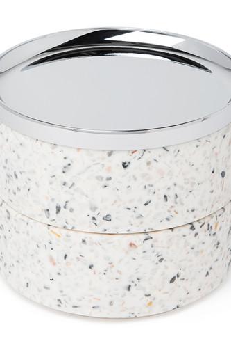 Шкатулка для украшений tesora terrazzo (белый) umbra шкатулка для украшений toto чёрная орех