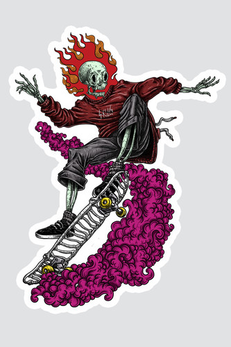 Наклейка SKILLS Skate Rider (Разноцветный)