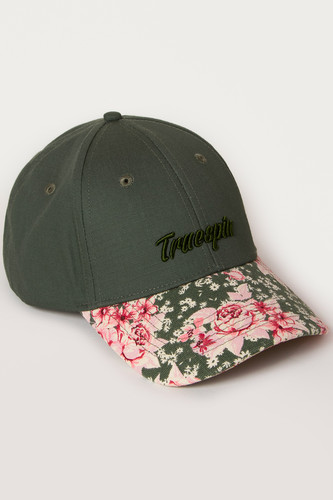 Бейсболка TRUESPIN Round Rip Flower (Green, O/S) бейсболка truespin 2 tone blank trucker cap heather grey white o s