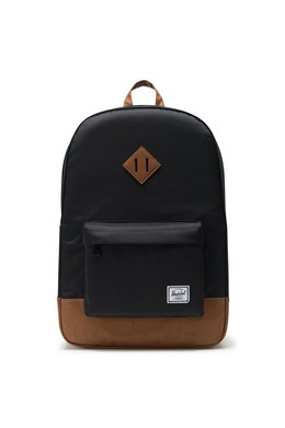 Рюкзак HERSCHEL Heritage Black/Tan Synthetic Leather фото