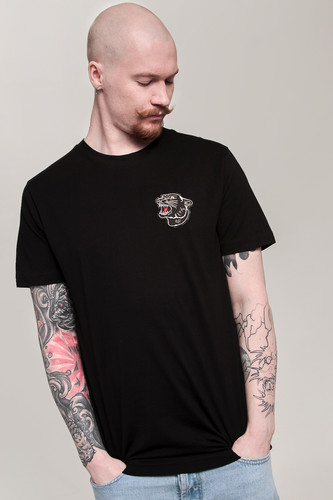Футболка MISTER TEE Embroidered Panther Tee (Black, S)