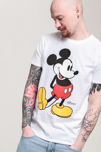 Футболка URBAN CLASSICS Mickey Mouse Tee (White, S) футболка urban classics godfather characters tee white l