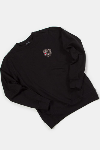 Толстовка MISTER TEE Embroidered Panther Crewneck Black фото 7