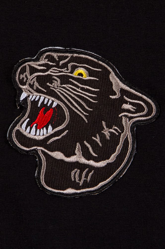 Толстовка MISTER TEE Embroidered Panther Crewneck Black фото 8