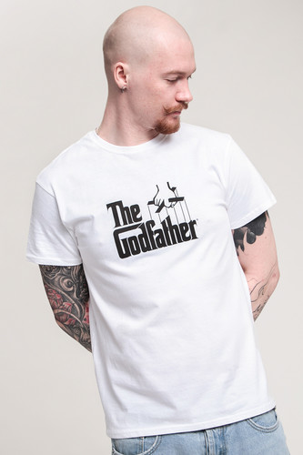 Футболка URBAN CLASSICS Godfather Logo Tee (White, S) футболка urban classics godfather characters tee white l