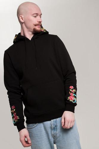 Толстовка MISTER TEE Flowers Embroidery Hoody (Black, XL)