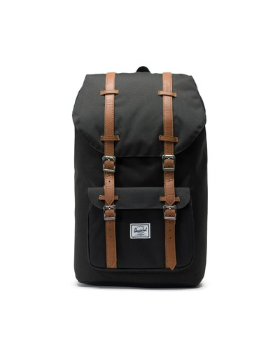 Рюкзак HERSCHEL Little America Black/Tan Synthetic Leather фото 5