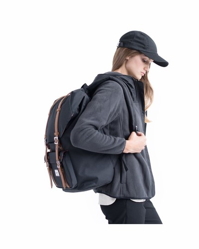 Рюкзак HERSCHEL Little America Black/Tan Synthetic Leather фото 8