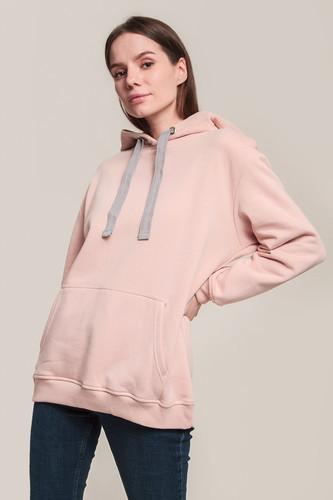 Толстовка URBAN CLASSICS Ladies Oversize Hoody женская (Light Rose/Grey, L)