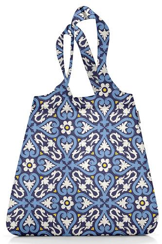 Сумка складная mini maxi shopper floral 1 (Синий)