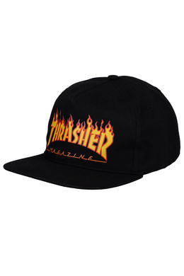 Кепка THRASHER FLAME SNAPBACK Black фото
