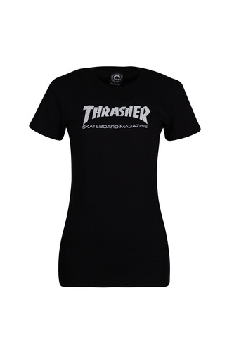 Футболка THRASHER GIRLS MAG LOGO SHORT SLEEVE (Black, S)