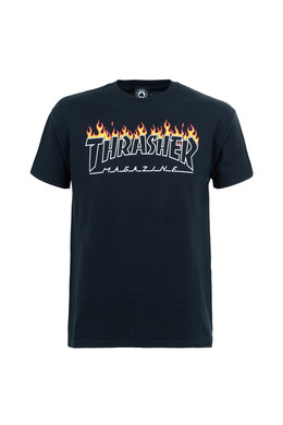 Футболка THRASHER SCORCHED OUTLINE-S/S Black фото
