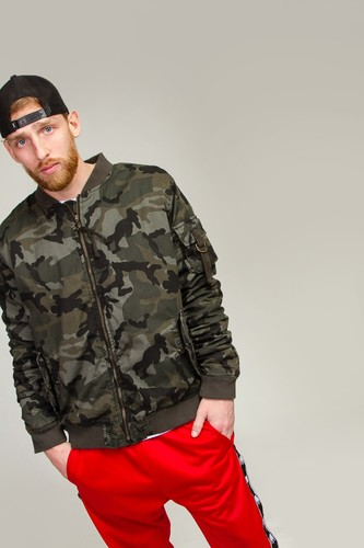 Куртка URBAN CLASSICS Vintage Camo Cotton Bomber Jacket (Wood Camo, L)