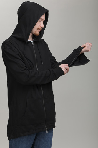 Толстовка URBAN CLASSICS Sweat Parka (Black, XL)
