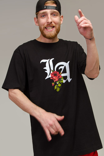 цена на Футболка MISTER TEE LA Rose Tee (Black, 2XL)
