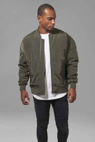 Куртка URBAN CLASSICS Oversized Bomber Jacket (Dark Olive, XL)