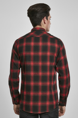 Рубашка URBAN CLASSICS Checked Flanell Shirt 6 Black/Red фото 2