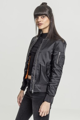 Куртка URBAN CLASSICS Ladies Basic Bomber Jacket Black фото