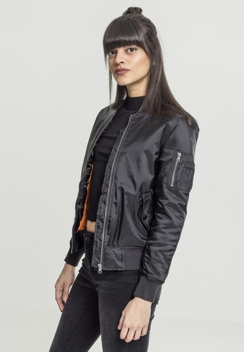 Куртка URBAN CLASSICS Ladies Basic Bomber Jacket Black фото 3