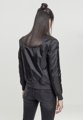 Куртка URBAN CLASSICS Ladies Basic Bomber Jacket Black фото 4