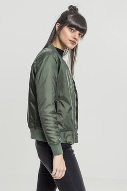 Куртка URBAN CLASSICS Ladies Basic Bomber Jacket Olive фото