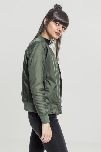 Куртка URBAN CLASSICS Ladies Basic Bomber Jacket (Olive, L)