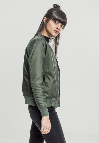 Куртка URBAN CLASSICS Ladies Basic Bomber Jacket Olive фото 3
