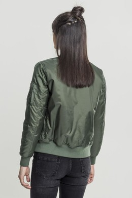 Куртка URBAN CLASSICS Ladies Basic Bomber Jacket Olive фото 2